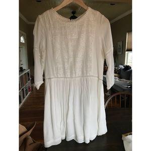 Dresses & Skirts - Sunico Paris White Embroidered Dress